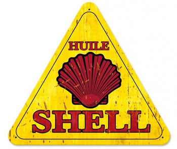 "Huile Shell Grunge Triangle 15"" by 16"""