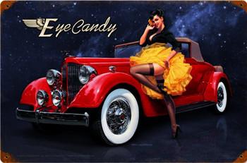 Eye Candy Pin-Up Metal Sign