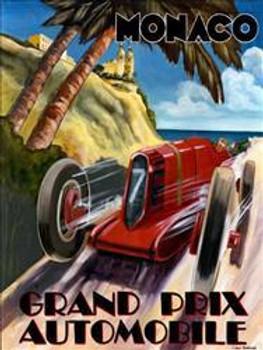 Monaco / Grand Prix Metal Sign