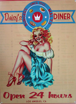 Daisy's Diner Metal Sign