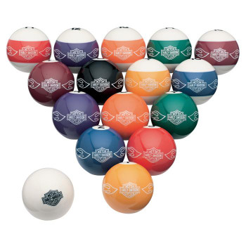 Harley-Davidson Custom Billard Ball Set.