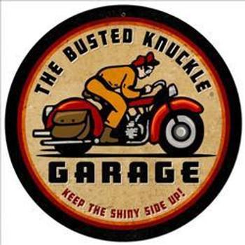 """Rider Vintage Round Metal Sign (14"""" Round)"""