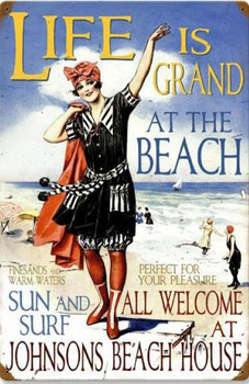 Beach House Vintage Metal Sign