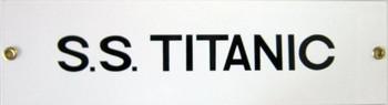 S.S. Titanic Porcelain Sign