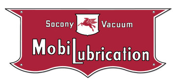 Mobil Lubrication Sign (5 pointed)