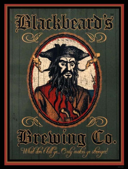 Blackbeard's Brewing Co. Metal Sign