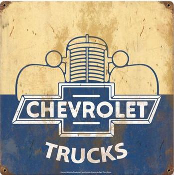 "Chevrolet Trucks 18"" Metal Sign"