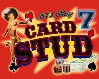 7 Card Stud (disc) Metal Sign