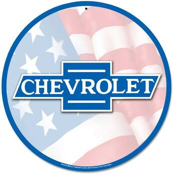 "Chevrolet 14"" Round Metal sign"