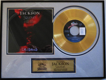 """Michael Jackson """"Scream"""" Framed 45 Gold Record Limited Edition"""