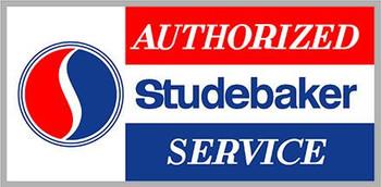 "Studebaker Authorized Service 8"" x 14"""