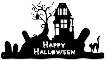 Happy Halloween Cutout Plasma Metal Sign