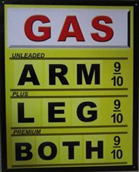 GAS-Arm-Leg-Both Metal Sign