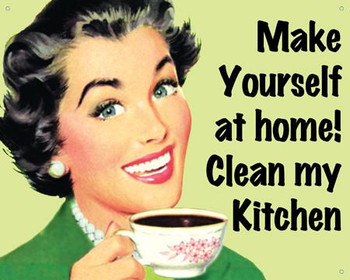 Clean Kitchen Metal Sign
