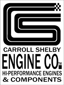 Carroll Shelby Engine Co. Metal Sign