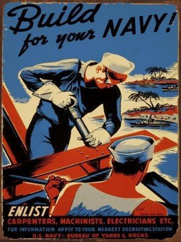 Enlist Navy Metal Sign