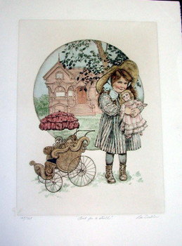 Out For a Stroll-Original Etching