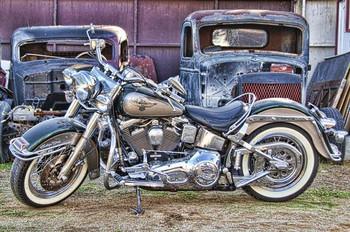 Harley Motorcycle Metal Sign