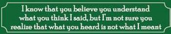 Believe You Understand