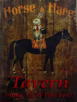 Horse & Hare Tavern Metal Sign