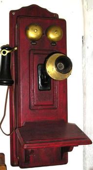Raised Panel Wood Wall Telephone