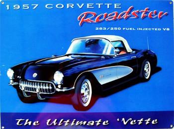 Corvette Roadster-1957 Metal Sign