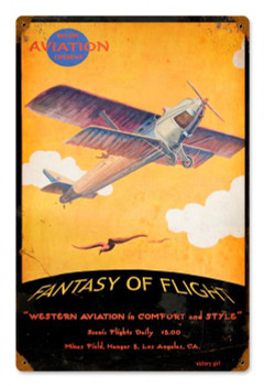 Fantasy of Flight Vintage Metal sign