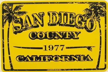 San Diego County Aluminum Sign