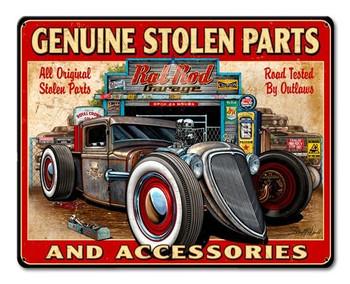 Genuine Stolen Parts Metal Sign