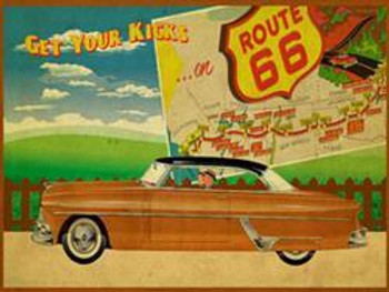 Route 66 1 Metal Sign