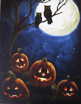Pumpkin Patch LED Canvas