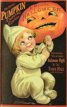 Pumpkin Carving Contest Metal Sign