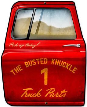 Busted Knuckle Door Plasma Cut Metal Sign
