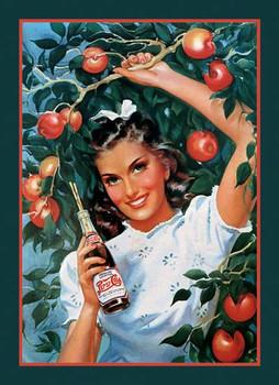 Girl in Orchard Apple Tree Pepsi Cola