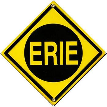 Erie Railroad Porcelain Sign
