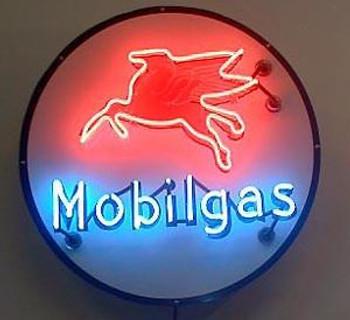 Mobilgas Advertising Neon