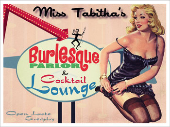 Burlesque Parlor Metal Sign