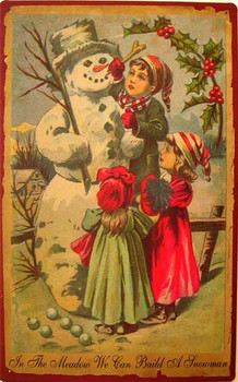 In The Meadow We Can Build A Snowman Metal Sign