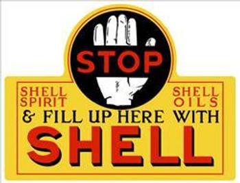 Shell Motor Oil Plasma Cut Metal Sign