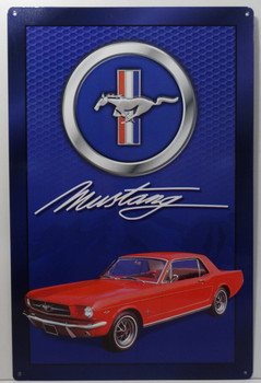 1965 Ford Mustang Metal Sign