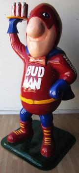 """Bud Man Budweiser Beer 77"""" Tall"""