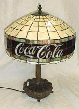 Coca Cola Round Shade Table Lamp