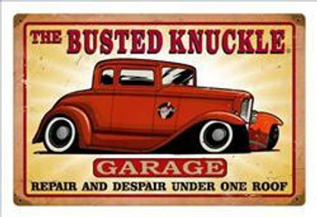"""Busted Knuckle Garage Hot Rod (18"""" by 12"""")"""