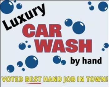 Luxury Car Wash Metal Sign