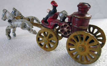 Cast Iron Firesteamer with Horses