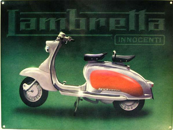 Lambretta-Innocenti Metal Sign