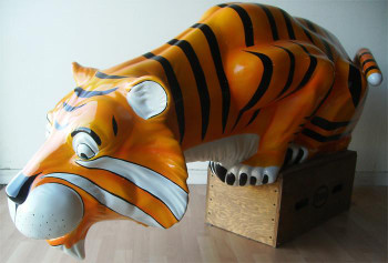Esso Tiger Fiberglass Statue