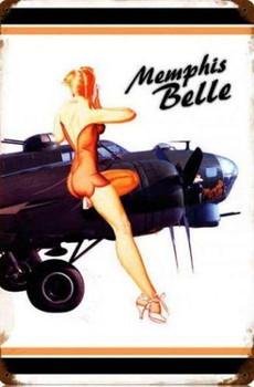 Memphis Belle Pin-Up Metal Sign