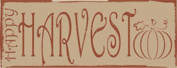 Happy Harvest Metal Sign