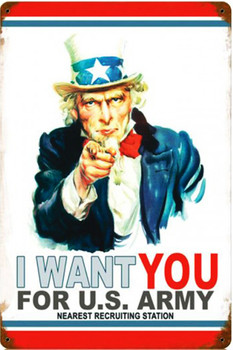 I Want You Metal Sign